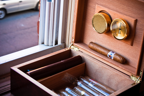 Humidor case to preserve cigars