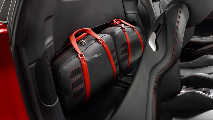 SPACED OUT | Ferrari's bespoke luggage made especially for this fine automobile