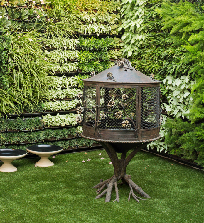 Exotic birdcages are JJ Vallaya's one of the favourite garden accessories.