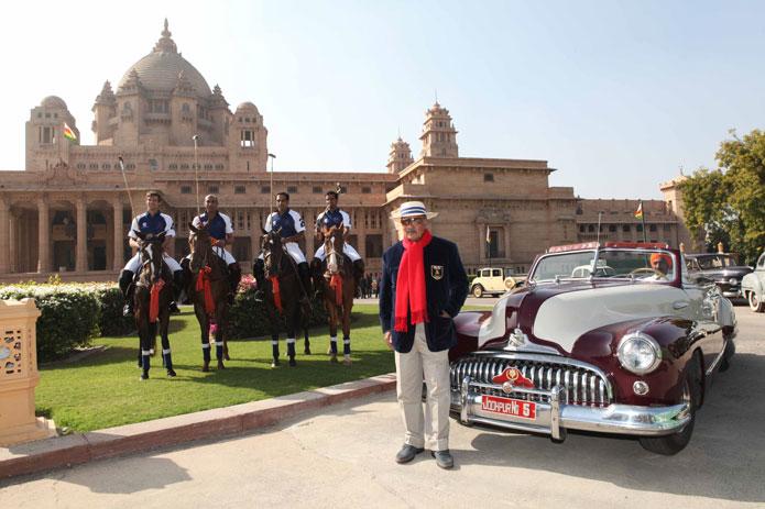 ROYAL SPECTACLE | Gaj Singh II in front of Umaid Bhavan Palace in Jodhpur. Photo by Raj Kumar Singh