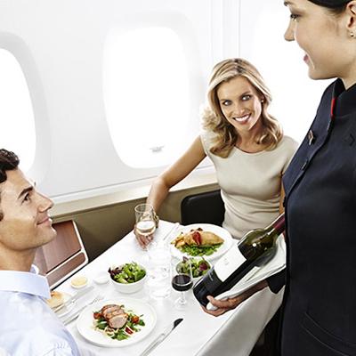 Qantas Flight Dining