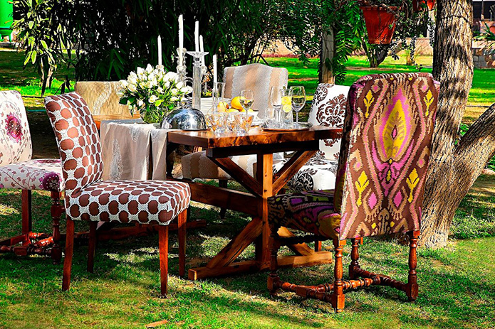 Bring in that little change this Diwali by upholstering some of those old chairs.