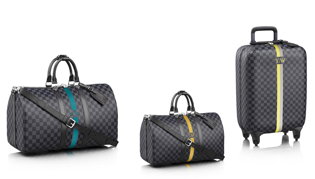 Louis Vuitton's personalization services for men's products