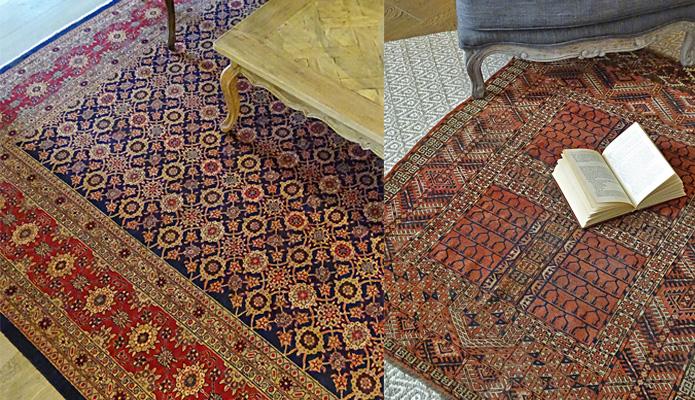 Rare antique Persian rugs are Sarita Handa's favourites.