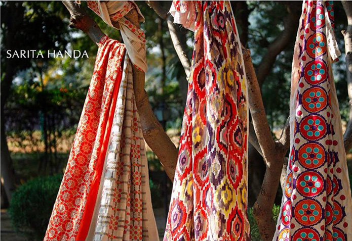 Love for nature is the trigger for the creative process for Sarita Handa's designs.