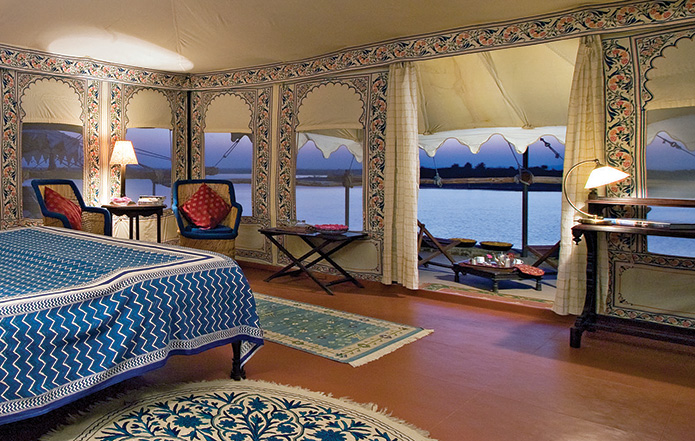 Beautiful interiors of the tent