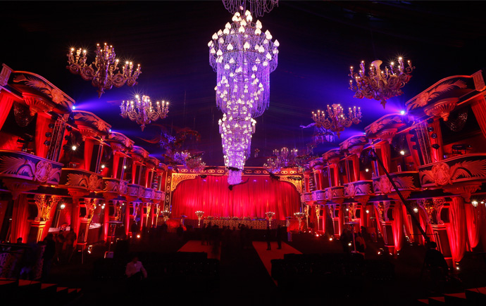 The Royal Opera as the reception theme.