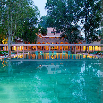 An erstwhile hunting lodge, Amanbagh is a lone oasis in the stark and hauntingly beautiful landscape of Sariska