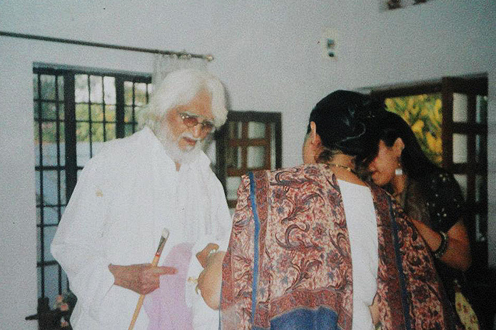 Late M. F. Husain visited Rukhmani store years back to order a saree for his film, Meenakshi