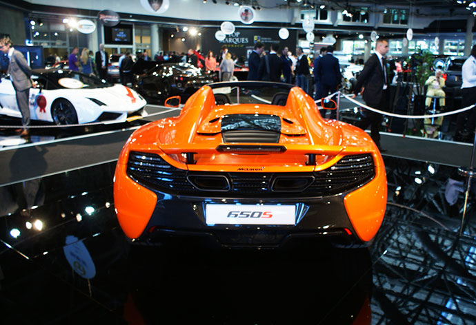 Mclaren 650S to be part of the display at the Motor Show