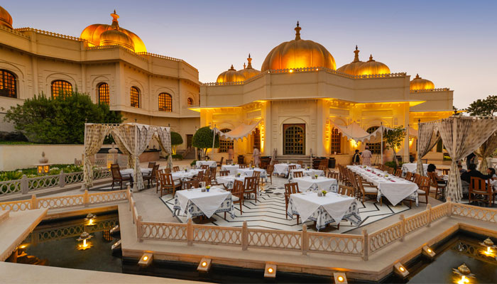 Dining at Oberoi Udaivilas, Udaipur