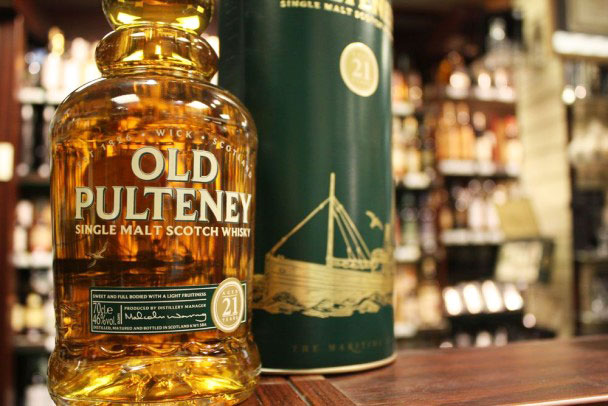 AMBER NUMBER | Beautifully bottled, the Old Pulteney 21 year old is one for the display