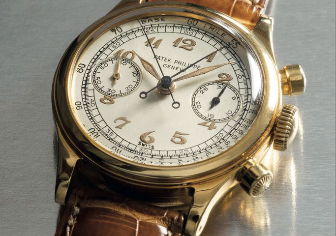 Patek Philippe split seconds watch with Breguet dial