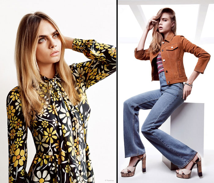 GLAM GOES GOTH | Cara Delevingne in Topshop's SS'15 campaign