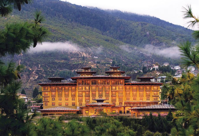TAJ TASHI, THIMPU   The centrally located hotel offers myriad options apart from the indoor luxuries, like arranging religious tours, nature trails, visits to local landmarks and local textiles and crafts tours