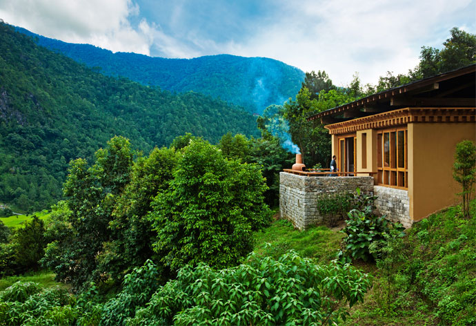 UMA BY COMO, PUNAKHA  This retreat has suites and private villas making for intimate, luxury reposts to indulge in after a day's cultural and adventure pursuits, from Himalayan trekking to archery and white-water rafting