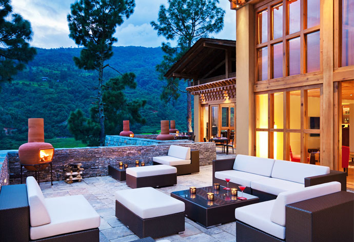 REPOSE IN STYLE  Uma at Punakha is promises to be a lap of luxury offering you an unprecedented view of the paradise around