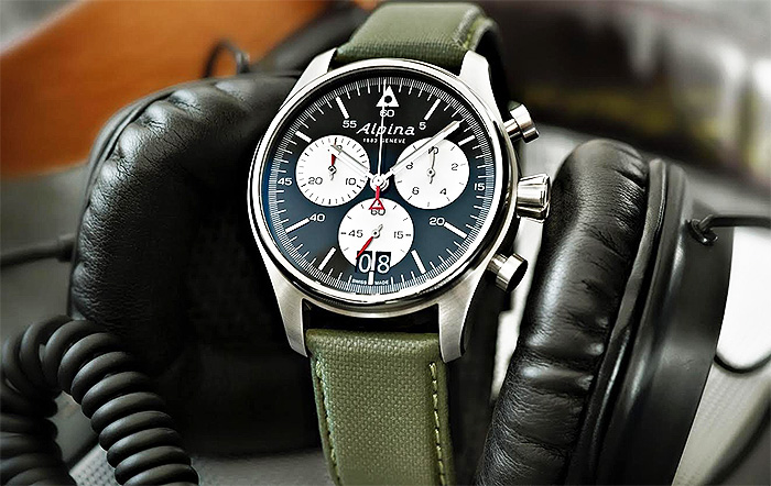 ALPINA VINTAGE STAR TIMER | The watch is built on traditional lines, is highly wearable and maintains the vintage feel that is distinctive for the entire alpina startimer range