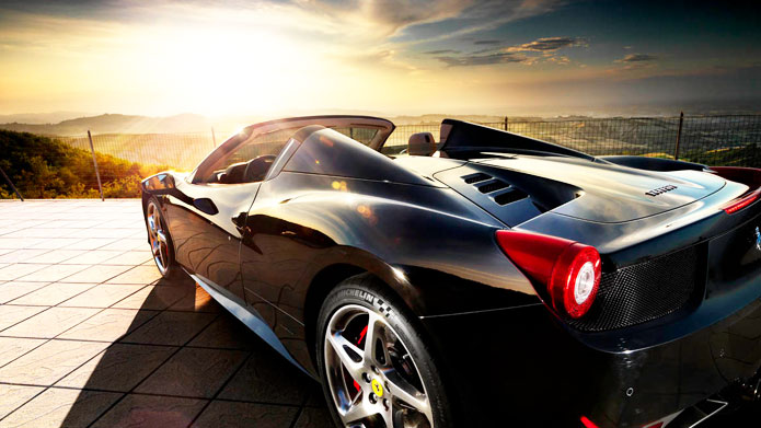 BEYOND THE ORDINARY | Raupp click captures the source of that iconic sound, as the Ferrari poses with aplomb