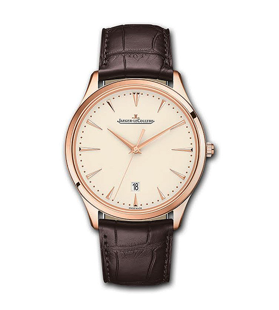 JAEGER LECOULTRE ULTRA THIN DATE | Maintaining the philosophy and character of the master ultra thin line, the watch displays its traditional hour, minute, central second and date functions in a minimalist, timeless design