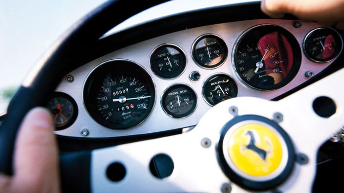 IN THE COMMANDING POSITION | When you're behind the wheel of the Ferrari, what's behind you doesn't matter!