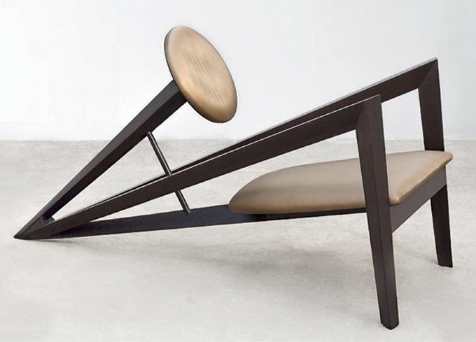 Trumpet Chair – Angles look positively jazzy on this trumpet chair which blends in comfort with modern design sensibility
