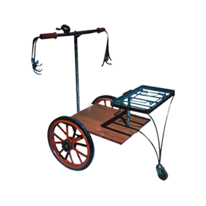 BICYCLE TROLLEY | Moulding the spirit of re-cycling objects with creative purpose, this trolley is a much-needed piece of functional art for your parties at home