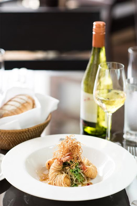 FUSION FUN | Bringing the best of both worlds together, Chef Long's food is about fresh local produce added with a contemporary twist, like the prawn in a crunchy potato nest