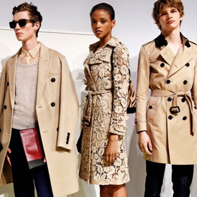Burberry's bold lace collection for men