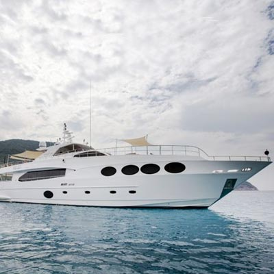 Gulf Craft's Majesty 105: largest superyacht at PIMEX
