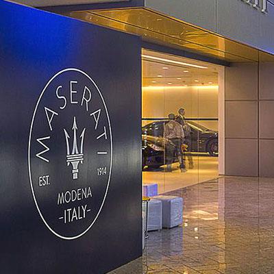 Million Dollar Maserati Showroom for Maximum City Mumbai