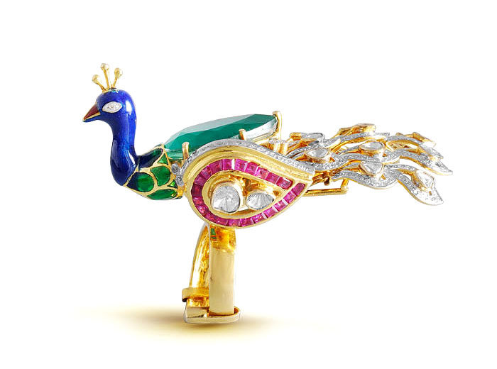 PEACOCK TALES | Inspired by the royal standards of Ratangarh in Churu, Rajasthan and combining it with the craftsmanship of Bengal, MBj creates novelty in jewellery