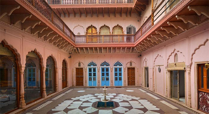 TUCKED-IN TREASURE | Promising a walk down a vintage memory lane, there is a 5' alley with residences and small shops on both sides that lead you to the Haveli
