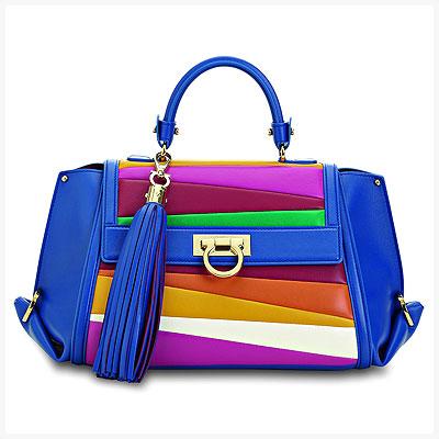 Ferragamo joins Battaglia to create these rainbow bags