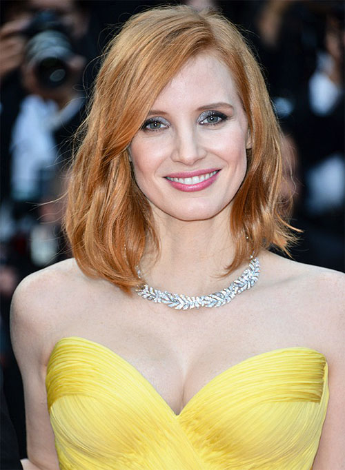 JESSICA CHASTAIN | The stunning Piaget necklace