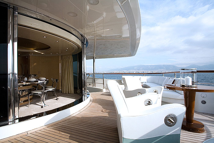 THE SUNDAY | With its gleaming, plush cream and white interiors, it will make for a luxe Eastern Mediterranean charter this summer and is available from 330,000 EUR per week