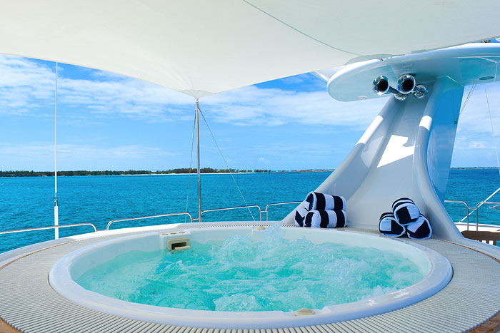 THE OCTOPUSSY | With its sundeck Jacuzzi and all, it is available this summer to charter in the Caribbean & Bahamas, Cuba and British Virgin Islands, from 120,000 USD per week