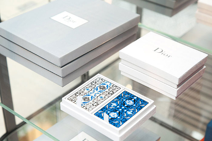 Michaël Cailloux | Deck of Cards inspired by Christian Dior's gardens in Granville, Milly-la-Forêt, and La Colle Noire