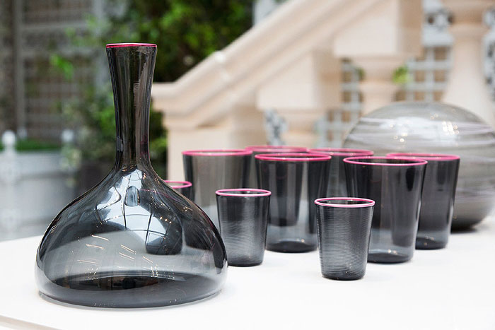 Arrivabene | Handblown Murano glass carafe and cups