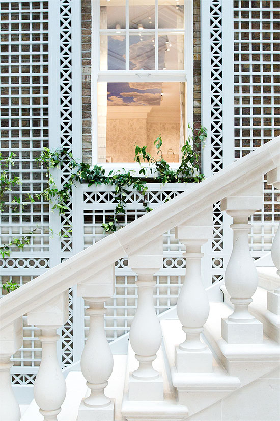 Marble Marvel | A classic marble staircase lead you up the store