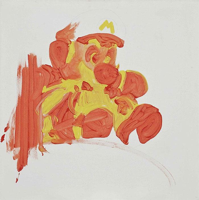 MICHEL MAJERUS   Oil and graphite on canvas, estimated at £4,000-6,000