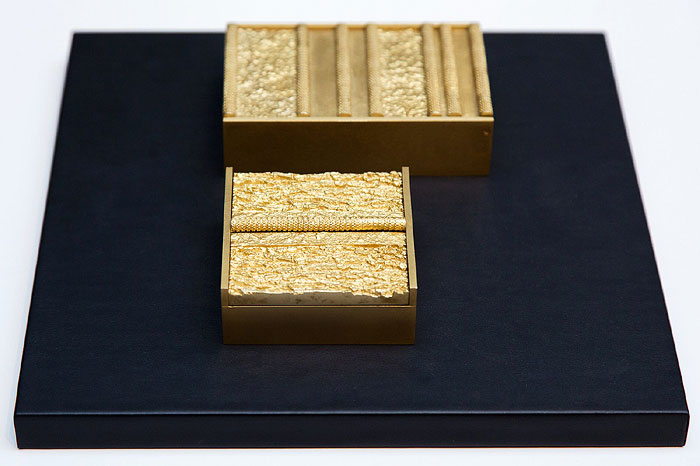 Peter Marino | Bronze boxes for the debut line