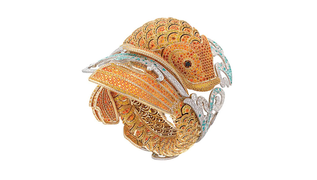 Timekeepers of fantasy: The fish-inspired Carpe Koï watch from Van Cleef and Arpels