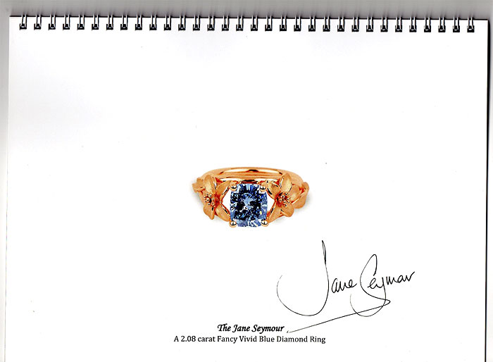 SIGNATURE SPARKLE | Catalogue of the ring signed by Jane Seymour herself