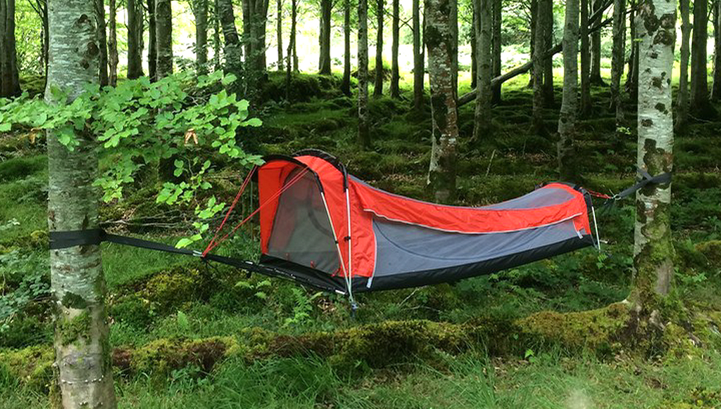 Try out the Crua Tent-Hammock Hybrid, the coolest in camping gear