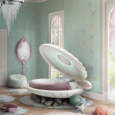 A fairy-tale bed for a little mermaid!
