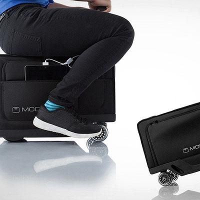 Modobag Motorized Luggage: it carries you upon itself!