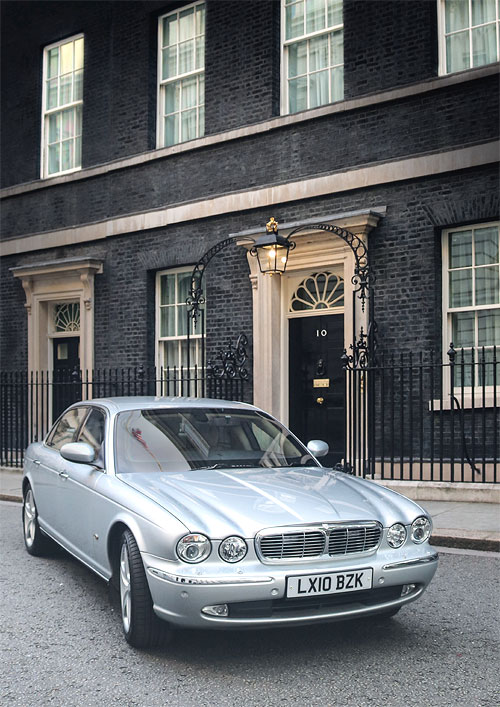 BARONESS THATCHER OFFICIAL JAGUAR | Also loaned to David Cameron during 2010 election and used by him en route to Downing Street after his first meeting with the Queen as Prime Minister(Courtesy: Christie's)