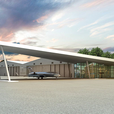 Florida luxe-residences with a private jet parking