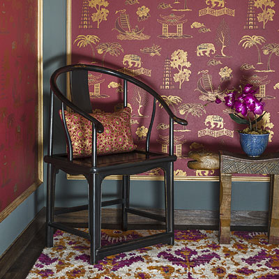 Silk Route: wall coverings from Good Earth for Nilaya by Asian Paints